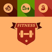 Flat fitness design elements — Vetorial Stock