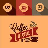 Coffee menu design elements — Stock Vector