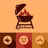 Barbecue design elements — Stock Vector