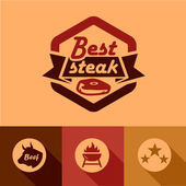 Best steak labels — Stock Vector