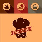 最好的厨师图标 — 图库矢量图片
