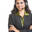 Happy young Indian call centre employee — Stock Photo #34914341