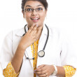 Indian young female doctor with expression — Stock Photo