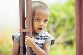 かわいいインドの小さな男の子の肖像画 — ストック写真