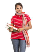 Pretty young Indian girl student — Foto Stock