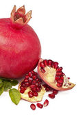 Pomegranate on a white background — Stock Photo