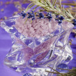 Lavender - bath salt for aromatherapy  — Stock Photo