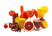 Healthy fruit and vegetable juices — Stock Photo