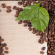 Royalty-Free Stock Photo: Coffee grains and leaves