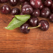 Red, ripe, juicy cherries — Stock Photo