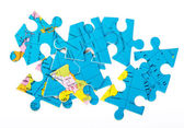Globe puzzles — Stock Photo