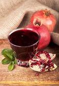 Garnet juice — Stock Photo