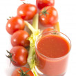 Stock Photo: Tomatoes juice