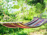 Hammock in a garden — Stock Photo