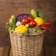 Healthy Organic Vegetables on Wooden Background — Stock Photo #34222765