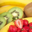 Bananas, kiwi and strawberry — Stock Photo #34264075