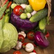 Healthy Organic Vegetables on Wooden Background — Stock Photo #35821743
