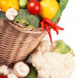 Fruits and vegetables in basket — Stock Photo #36971155