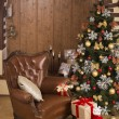 Christmas tree in living room — Stock Photo #37047749