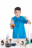 Young chemist, Education background: Funny Teen — Stock Photo
