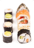 Sushi pieces collection — Stock Photo