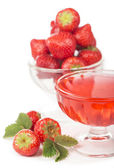 Bowl with strawberries and jelly — Foto Stock