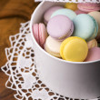 Foto Stock: Pastel color macaroons