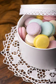 Pastel color macaroons — Stock Photo