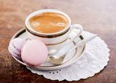 Café e bolinhos franceses — Fotografia Stock