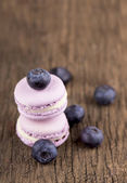 Close up of blueberry macaroons — Stock Photo