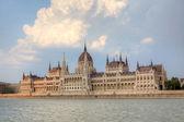 Parlamentsgebäude in Budapest, Ungarn. — Stockfoto