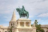 Statue of St. Steven's in Budapest. — Stockfoto