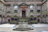 Court Yard at the English Stately Home — 图库照片