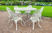 Vintage garden furniture — Stock Photo