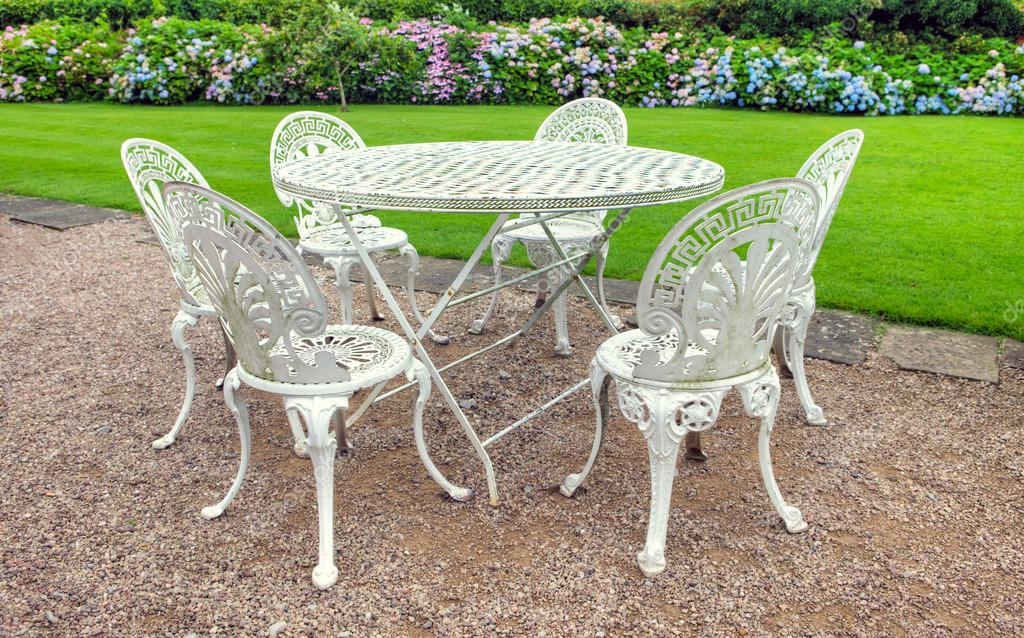 stock photo vintage garden furniture