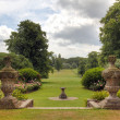 Stock Photo: English Country Estate garden view.