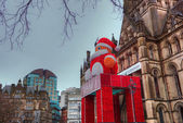 Manchester Town Hall at Christmas time. — Stock Photo
