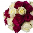 Red and white roses posy. — Stock Photo