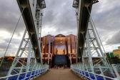 Millennium Bridge at Salford Quays in Manchester, England. — Stock Photo