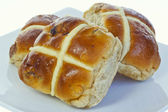 Hot cross buns. — Stock Photo