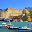 Stock Photo: Old harbour and castle in Cyprus.