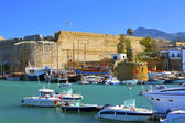 Old harbour and castle in Cyprus. — Stock Photo