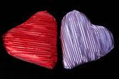 Two chocolate hearts. — Stock Photo