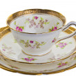 Antique cup, saucer and small plate. — Stock Photo #25148927