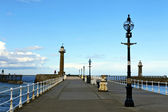 Old pier at Whitby. — Stock Photo