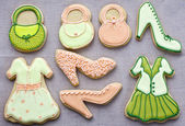 Iced fashion cookies. — Stock Photo