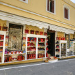 Stock Photo: Row of shops in old town.