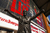 Statue of Bill Shankey at the Liverpool Football Club. — Stock Photo