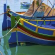 Paintwork on a traditionla fishing boat in Malta. — Stock Photo