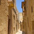 Narrow streets in the city of Mdina on the island of Malta. — Stock Photo